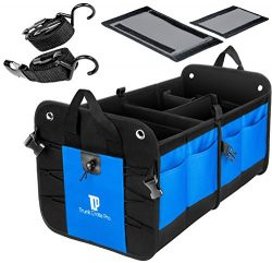 TrunkCratePro Collapsible Portable Multi Compartments Heavy Duty Non-Slip Cargo Trunk Organizer  ...