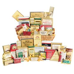 Grand Luxury Gift Basket, Gourmet Candy Assortment, Snacks & Meat Variety Pack