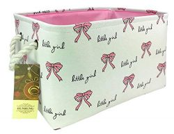 HUNRUNG Easter Gift Basket Rectangle Storage Basket Cute Canvas Organizer Bin for Pet/Kids Toys, ...