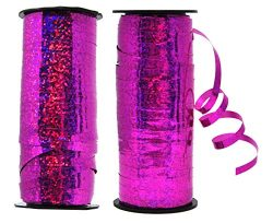 Mandala Crafts Glitter Curling Ribbon, Crimped, Iridescent, Metallic Décor for Balloon, Gift Wra ...