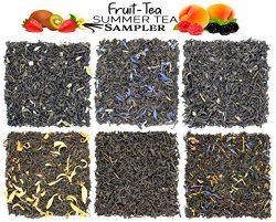 Fruit-Tea Summer Tea Sampler, Refreshing Loose Leaf Tea Assortment Featuring Blackberry, Vanilla ...