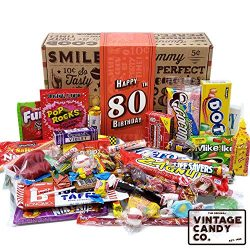 VINTAGE CANDY CO. 80TH BIRTHDAY RETRO CANDY GIFT BOX – 1939 Decade Nostalgic Childhood Can ...