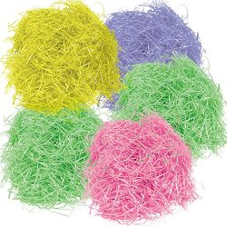 Gift Boutique 567 g 20 oz Multicolor Easter Grass Pink Yellow Purple and 2 Green Bags for Basket ...