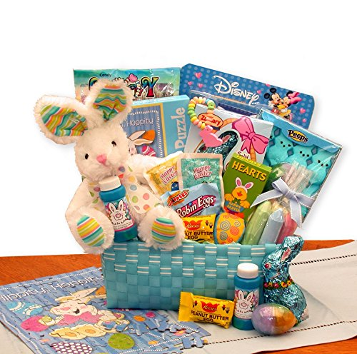 Cottontails Blue Easter Gift Basket with Easter Chocolates and Candy Just for Boys