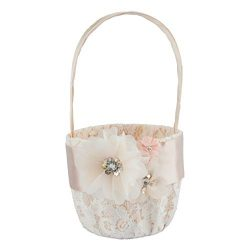 Customoffi Modern Basket – Best for Flower Girl Basket and Bridal Shower Gift for Weddings ...