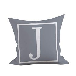 ❤Ywoow❤ Pillow, 45×45 cm Kinder Zimmer Dekoration Brief Kissen Englisch Alphabet Pillowcases