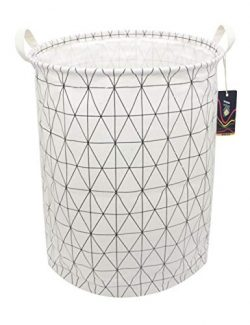 "HKEC 19.7"" Waterproof Foldable Storage Bin, Dirty Clothes Laundry Basket, Canvas Organizer ..."