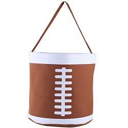 E-FirstFeeling Football Basket Easter Basket Easter Hunt Bag Easter Egg Candy Basket Gift Toy Ba ...