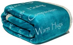 Compassion Blanket – Strength Courage Super Soft Warm Hugs Get Well Gift Blanket. Plush He ...