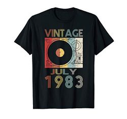 Retro July 1983 Tshirt 36th Birthday Gift 36 years old Tee