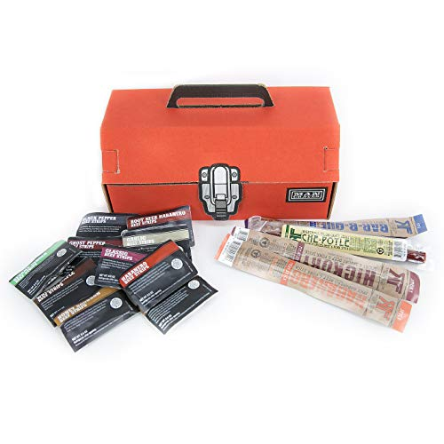 Man Crates Jerky Tool Box – Unique Gift For Men – Includes 14 Delicious Beef Jerky F ...
