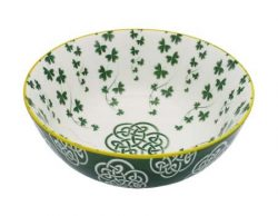 Royal Tara Irish Celtic Bowl With Trellis Shamrock Design 14cm