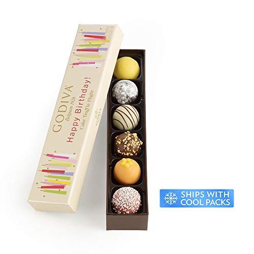 Godiva Chocolatier Happy Birthday Cake Chocolate Truffle Flight, Great for any gift, Birthday Gi ...