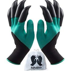 NNBB Garden Gloves with Fingertips Claws Quick- Great for Digging Weeding Seeding poking -Safe f ...