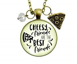 24″ Pizza Friendship Necklace Cheesy Friends Are The Best Friends Jewelry Gift Women Novel ...
