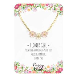 Happy Kisses Flower Girl Necklace – Your Love and Flowers Make Our Wedding Complete. Thank ...