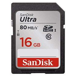 SanDisk 16GB Class 10 SDHC UHS-I Up to 80MB/s Memory Card (SDSDUNC-016G-GN6IN)