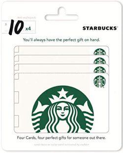 Starbucks Gift Cards, Multipack of 4 – $10