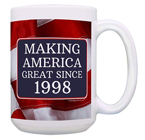 21st Birthday Gifts for All Making America Great Since 1998 Turning 21 Birthday Gift Ideas Maga  ...