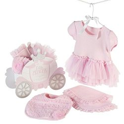 Baby Aspen Little Princess 3 Piece Gift Set, Baby Onesie Outfit, Newborn Halloween Costume, Pink