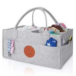 Baby Diaper Caddy Organizer – Large Baby Organizers and Storage for Nursery – Portab ...