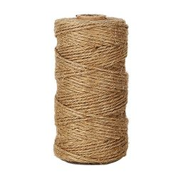 KINGLAKE 300 Feet Natural Jute Twine Best Arts Crafts Gift Twine Christmas Twine Durable Packing ...