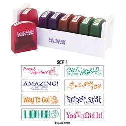 ECR4Kids Motivation Teacher Stamps – Mess-Free Self-Inking School Grading Stamp Set with S ...