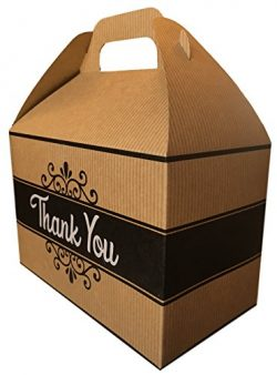 Thank You Cookies Care Package features classic Kraft Gift Box with Thank You graphic, stuffed w ...