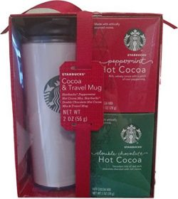 Starbucks Peppermint and Double Chocolate Hot Cocoa and Travel Mug Set