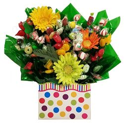 Gumballs Gift Box with Hard Candy Bouquet – Great as a Birthday, Thank You, Get Well Soon, ...