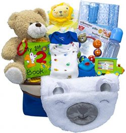 Joyful Arrival Deluxe Baby Gift Set (Girl or Boy) – Diaper Organizer, Baby Clothes & M ...