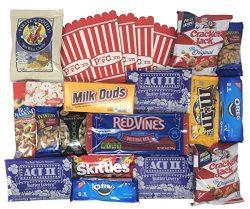 Movie Night Gift Box with Snacks and Redbox Movie Rental Code