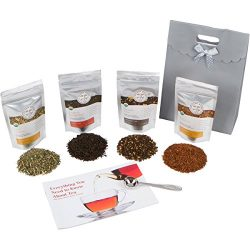 Golden Moon Tea – Tea Gift Set | 100% USDA Organic Loose Tea Sampler Set | Robust Smooth T ...
