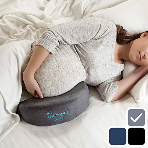 hiccapop Pregnancy Pillow Wedge for Maternity | Memory Foam Maternity Pillows Support Body, Bell ...