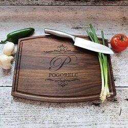 Personalized Cutting Board – Walnut – Maple- House Warming – Custom Wedding Gi ...