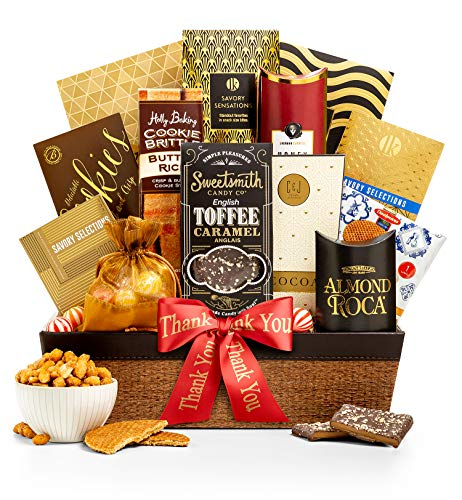 GiftTree Encore Gourmet Thank You Gift Basket | Assortments of Popcorn, Almond Roca, Honey Roast ...