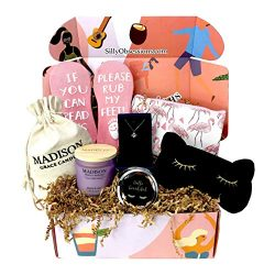 Gift Set for Women by Silly Obsessions. Birthday Gift Basket for Girlfriend, Wife, Mother.Gift B ...