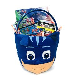 It's A Party PJ Mask Gift Basket Set! Coloring Book Puzzle Candy Stickers Tattoos 20 Piece ...