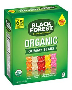Black Forest Organic Gummy Bears Candy, 0.8-Ounce Bag (Pack of 65)