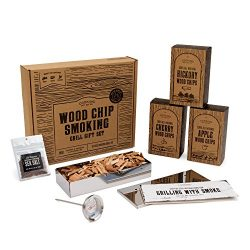 Cooking Gift Set | Wood Chips for Smoking and Grilling Box Set | BBQ Accessories Perfect for Bir ...