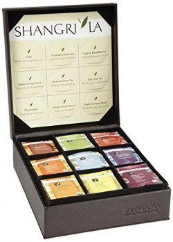 Shangri-La Tea Company Organic Luxury Teabag Collection, 81 Hot Tea Bags, 9 Different Flavors, C ...