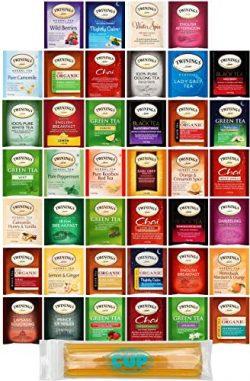 Twinings Assorted Tea Variety Pack – 40 ct Hot Tea Sampler: Camomile, Chai, Black, Herbal, ...