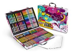 Crayola Inspiration Art Case In Pink, Portable Art & Coloring Supplies, 140 Pieces, Gift for ...