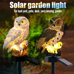 Euone Clearance Sales, LED Garden Lights Solar Night Lights Owl Shape Solar-Powered Lawn Lamp (b ...