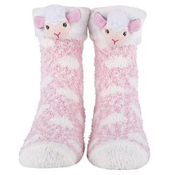Cozy Christmas and Furry Critter Socks with Santa, Reindeer and More! Soft and Plush Socks for W ...