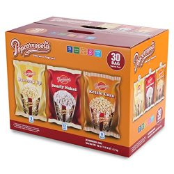 Popcornopolis Gourmet Popcorn Single Serving Variety Pack, 25 Ounce Box
