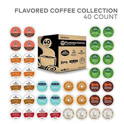 Keurig Flavored Coffee Collection Flavored Lover's, Single Serve Coffee K-Cup Pods for Keu ...