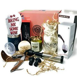 """The Wine O'Clock Box"" – Wine Accessory Gift Set – Packed with Fun ..."