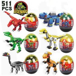 WIDON Dinosaur Building Blocks, 6 PCS in Easter Eggs Developmental Toys Gifts for Kids Boys Girl ...