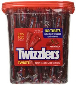 Twizzlers Strawberry Candy Twists – 180 Pcs, 3LB 9.5 OZ